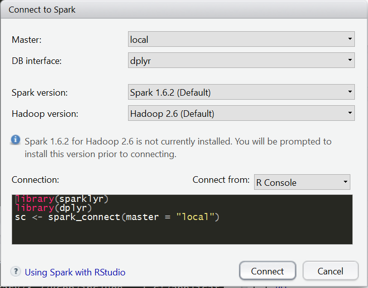 Running Apache Spark with sparklyr and R in Windows – yokekeong
