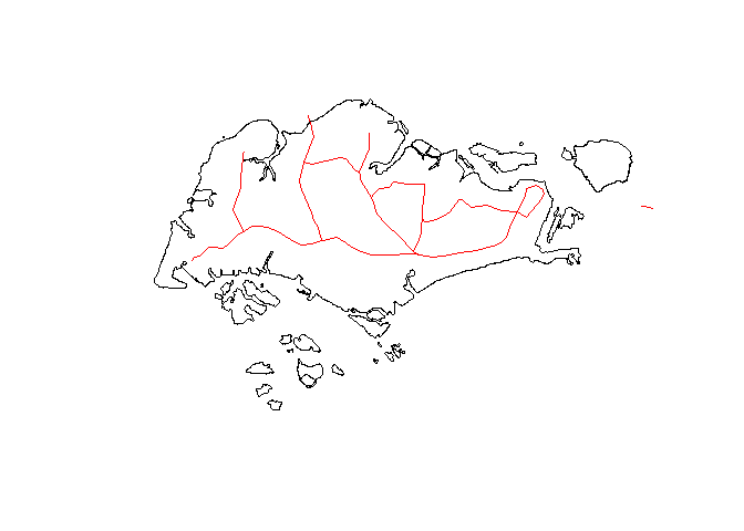 Singapore map with roads